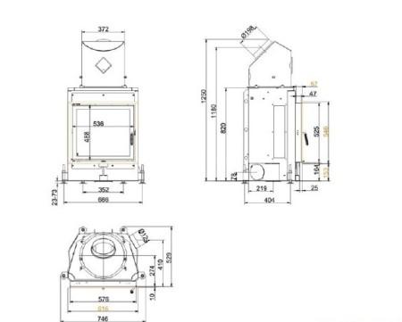 Каминная топка Brunner Kompakt-Kamin KK 57/55 (без подъема)