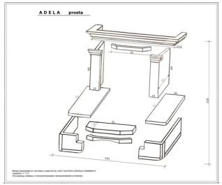 Каминная облицовка Andalusia Adela Emperador (угловая)
