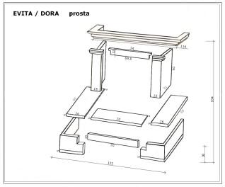 Каминная облицовка Andalusia Evita