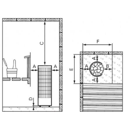 Электрическая печь для сауны Harvia Cilindro PC70