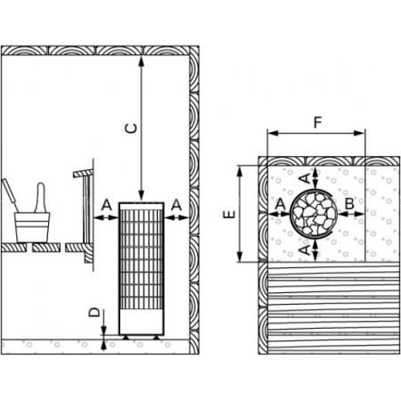 Электрическая печь для сауны Harvia Cilindro PC90VEE