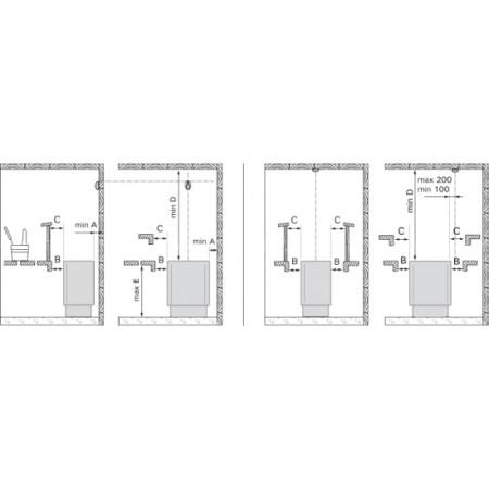 Электрическая печь для сауны Harvia Club Combi K13,5GS