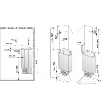Электрическая печь для сауны Harvia Delta D23