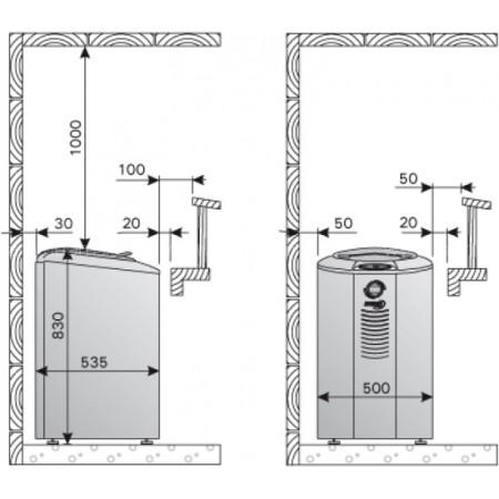 Электрическая печь для сауны Harvia Forte AF6 Steel