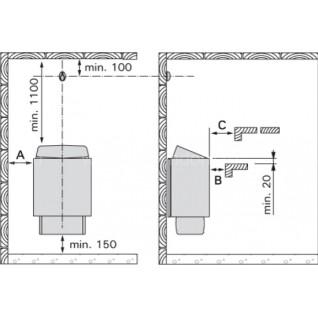 Электрическая печь для сауны Harvia KIP45E