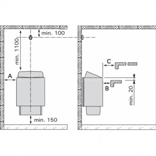 Электрическая печь для сауны Harvia KIP60E