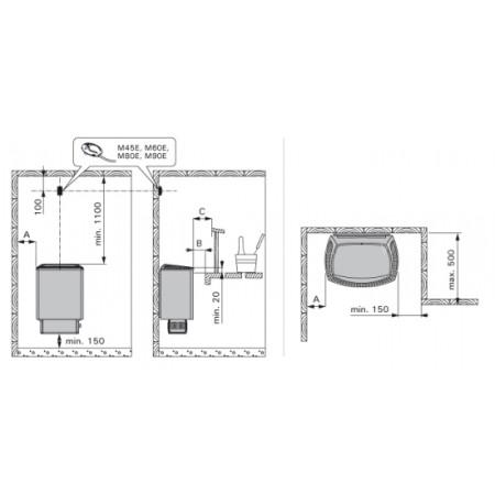 Электрическая печь для сауны Harvia Sound M90E