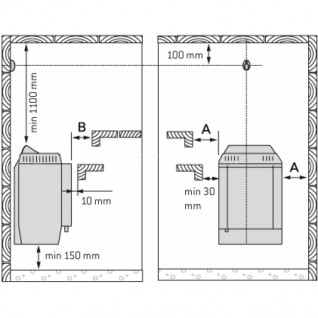 Электрическая печь для сауны Harvia Topclass Combi KV50SE