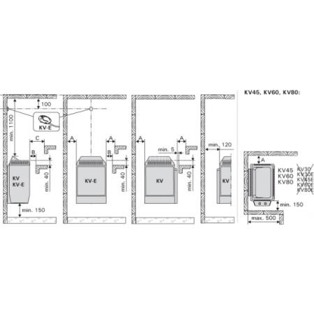 Электрическая печь для сауны Harvia Topclass KV60E