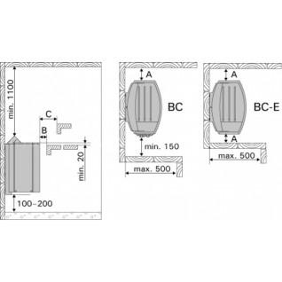 Электрическая печь для сауны Harvia Vega BC80