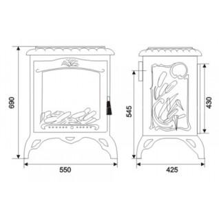 Печь-камин Invicta Chambord эмаль слоновая кость