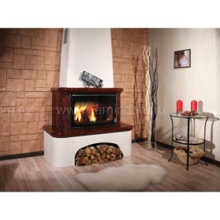 Изразцовая печь-камин  Вена, барокко коричневый