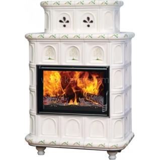 Изразцовая печь-камин  Эльзас с росписью