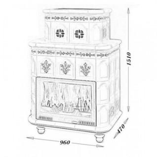 Изразцовая печь-камин TermoVision Baden 1