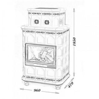 Изразцовая печь-камин TermoVision Baden 3