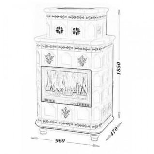 Изразцовая печь-камин TermoVision Baden 4