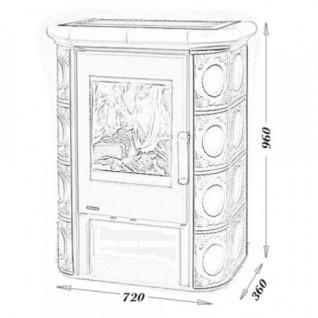 Изразцовая печь-камин TermoVision Bern (со стальной топкой)
