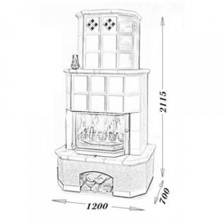 Изразцовая печь-камин TermoVision Geneve