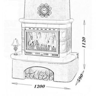Изразцовая печь-камин TermoVision Lugano