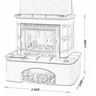 Изразцовая печь-камин TermoVision Moritz