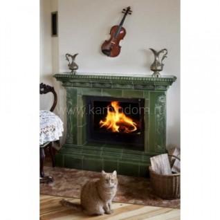 Изразцовая печь-камин TermoVision Stradivari (с топкой LINA 67/51 Schmid)