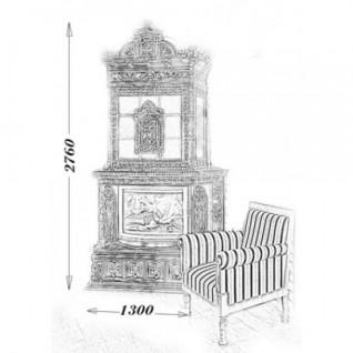 Изразцовая печь-камин TermoVision Verdi (с топкой LINA 67/51 Schmid)