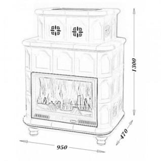Изразцовая печь-камин TermoVision Viena Basic