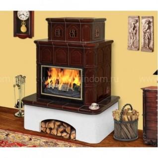 Изразцовая печь-камин TermoVision Villach бежевый/коричневый