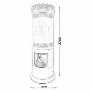 Изразцовая печь-камин TermoVision Waltz (с топкой LINA 55/51 Schmid)