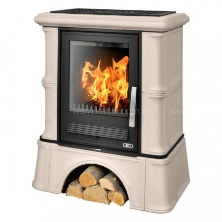 Кафельная печь-камин ABX Bavaria K (кафельный цоколь) с теплообменником