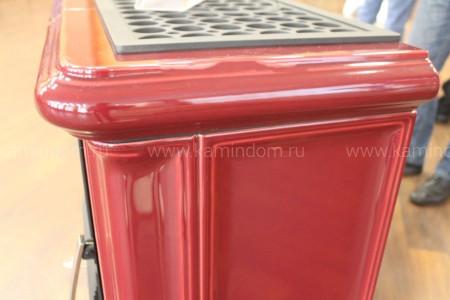Кафельная печь-камин ABX Bavaria K (прямой цоколь, вставка комбо)