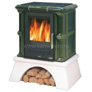 Кафельная печь-камин ABX Bavaria K (сельский цоколь) с теплообменником