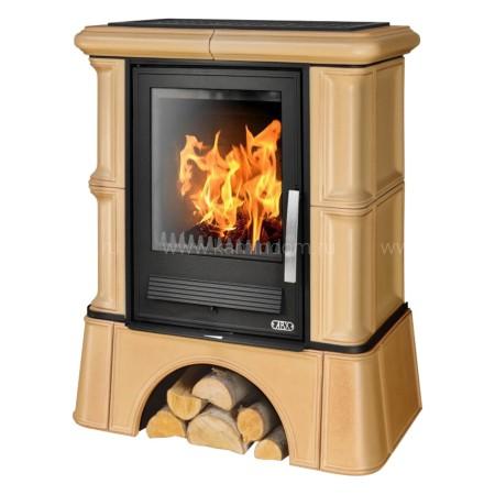 Кафельная печь-камин ABX Bavaria L (кафельный цоколь, чугунная вставка)