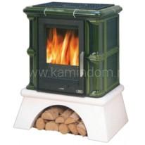 Кафельная печь-камин ABX Bavaria L (сельский цоколь, чугунная вставка)