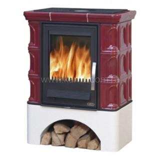 Кафельная печь-камин ABX Iberia K (прямой цоколь) с теплообменником