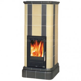 Кафельная печь-камин ABX Kaledonie Color с теплообменником