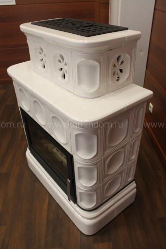 Кафельная печь-камин ABX Karelie (кафельный цоколь)