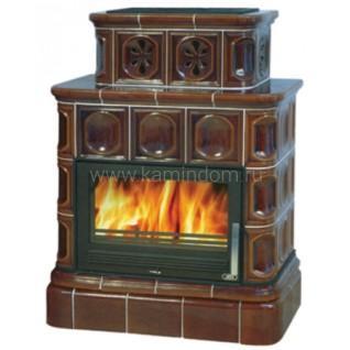 Кафельная печь-камин ABX Karelie (кафельный цоколь) с теплообменником (7 кВт в воду)