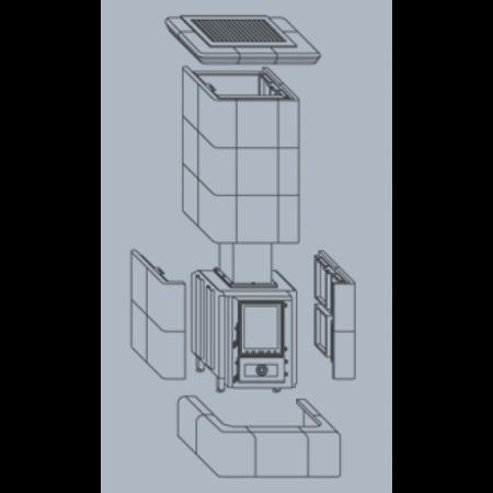 Кафельная печь-камин ABX Kopec