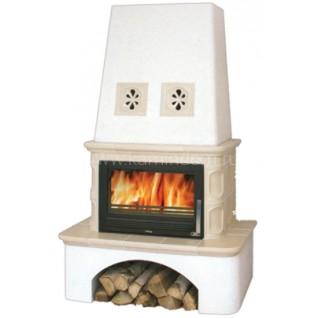 Кафельная печь-камин ABX Laponie с теплообменником (7 кВт в воду)