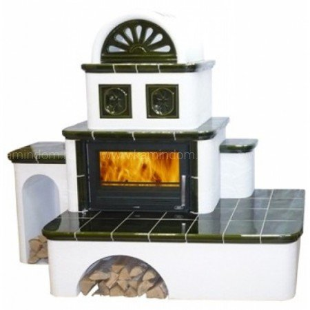 Кафельная печь-камин ABX Oxford
