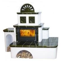 Кафельная печь-камин ABX Oxford с теплообменником