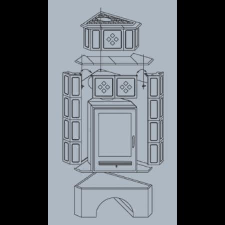 Кафельная печь-камин ABX Regina (угловая)