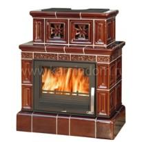 Кафельная печь-камин ABX Valencie (кафельный цоколь)