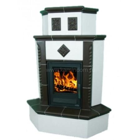 Кафельная печь-камин ABX Westfalia 720 (угловая)