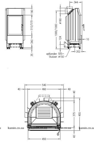 Каминная топка Spartherm Mini R1V