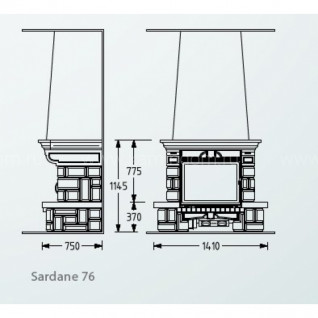 Каминная облицовка Supra Sardane 76
