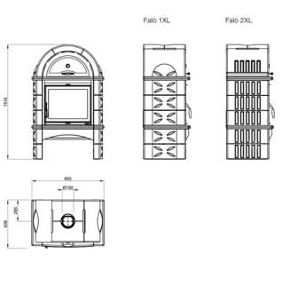 Отопительно-варочная печь La Nordica Falo 1XL