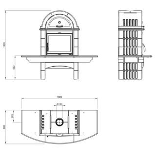 Отопительно-варочная печь La Nordica Falo 2L