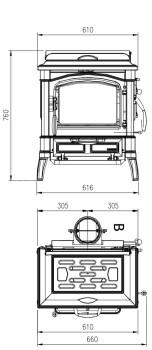 Отопительно-варочная печь La Nordica Isetta Con Cerchi